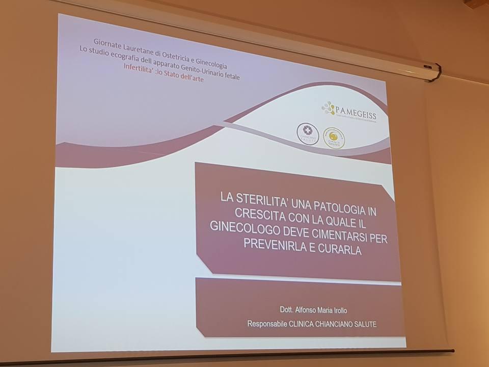 Dottor Alfonso Maria Irollo. al Congresso per PMA Fecondazione Assistita a Loreto